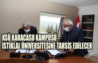 KSÜ Karacasu Kampüsü İstiklal Üniversitesine...