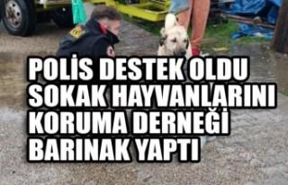 Polis Destek Oldu Sokak Hayvanlarını Koruma Derneği...