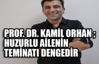 PROF. DR. Kamil Orhan ; Huzurlu Ailenin Teminatı...