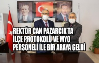 Rektör Can Pazarcık'ta İlçe Protokolü ve Myo...