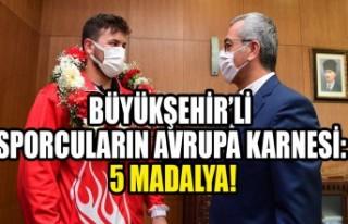 Büyükşehir'li Sporcuların Avrupa Karnesi: 5...