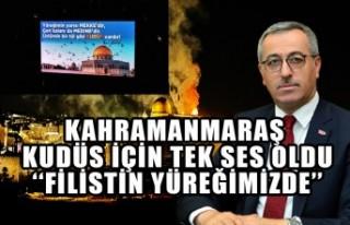 Kahramanmaraş Kudüs İçin Tek Ses Oldu ''Filistin...