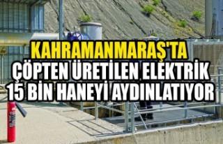 Kahramanmaraş'ta Çöpten Üretilen Elektrik...