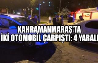 Kahramanmaraş'ta İki Otomobil Çarpıştı:...