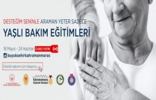 Kahramanmaraş'ta Yaşlı Bakım Eğitimleri...