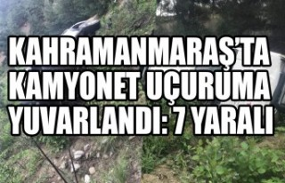 Kahramanmaraş'ta Kamyonet Uçuruma Yuvarlandı:...