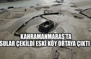 Kahramanmaraş'ta Sular Çekildi Eski Köy Ortaya...