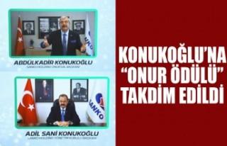 """Konukoğlu'na """"Onur Ödülü"""" Takdim Edildi"""