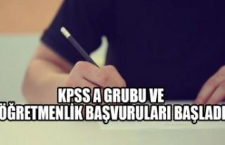 KPSS A Grubu ve Öğretmenlik Başvuruları Başladı