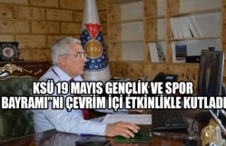 """KSÜ 19 Mayıs Gençlik Ve Spor Bayramı""""nı Çevrim..."""