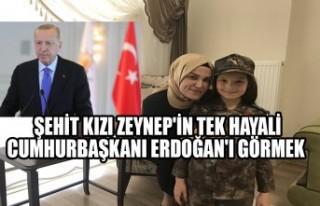 Şehit Kızı Zeynep'in Tek Hayali, Cumhurbaşkanı...