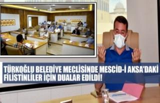 Türkoğlu Belediye Meclisinde Mescid-İ Aksa'daki...