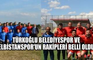 Türkoğlu Belediyespor ve Elbistanspor'un Rakipleri...
