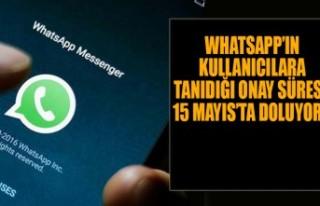 Whatsapp'ın Kullanıcılara Tanıdığı Onay Süresi...
