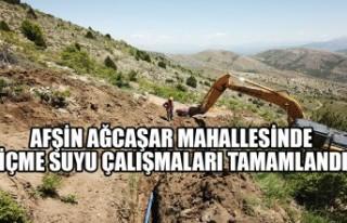 Afşin Ağcaşar Mahallesinde İçme Suyu Çalışmaları...