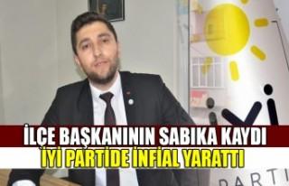 İlçe Başkanının Sabıka Kaydı İYİ Partide...
