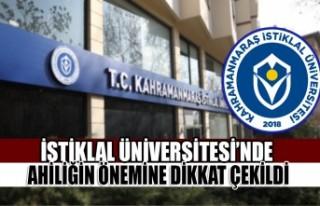 İstiklal Üniversitesi'nde Ahiliğin Önemine Dikkat...