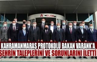 Kahramanmaraş Protokolü Bakan Varank'a Şehrin...