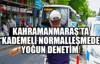 Kahramanmaraş'ta 'Kademeli Normalleşmede'...
