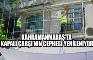 Kahramanmaraş'ta Kapalı Çarşı'nın Cephesi...