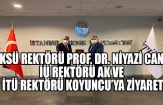 KSÜ Rektörü Can'dan İÜ Rektörü Ak ve İTÜ...