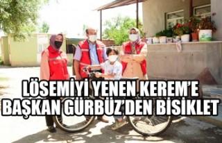 Lösemiyi Yenen Kerem'e Başkan Gürbüz'den Bisiklet