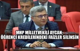 MHP Milletvekili Aycan; Öğrenci Kredilerindeki Faizler...