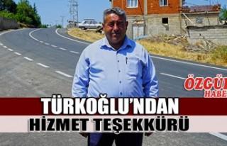 Türkoğlu'ndan Hizmet Teşekkürü