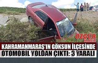 Kahramanmaraş'ın Göksun İlçesinde Otomobil...