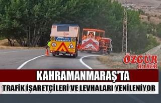 Kahramanmaraş'ta Trafik İşaretçileri Ve Levhaları...