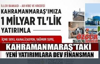 Kahramanmaraş'taki Yeni Yatırımlara Dev Finansman