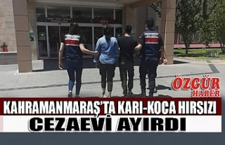 Kahramanmaraş'ta Karı-Koca Hırsızı Cezaevi...