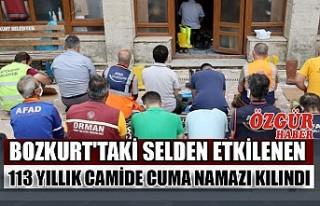 Bozkurt'taki Selden Etkilenen 113 Yıllık Camide...