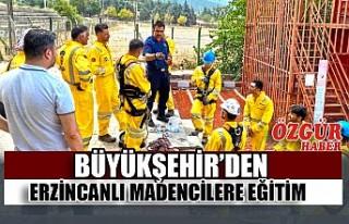 Büyükşehir'den Erzincanlı Madencilere Eğitim