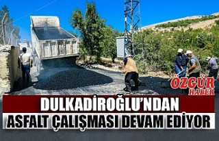 Dulkadiroğlu'nda Asfalt Çalışması Devam...