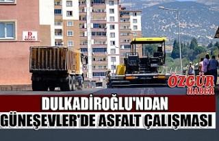 Dulkadiroğlu'ndan Güneşevler'de Asfalt...