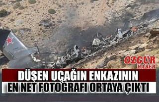 Düşen Uçağın Enkazının En Net Fotoğrafı Ortaya...