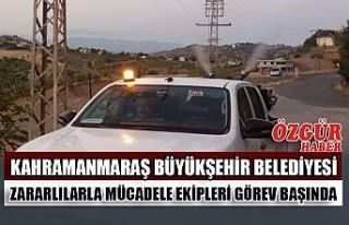 Kahramanmaraş Büyükşehir Belediyesi Zararlılarla...