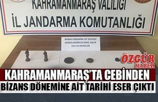Kahramanmaraş'ta Cebinden Bizans Dönemine Ait...