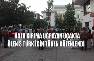 Kaza Kırıma Uğrayan Uçakta Ölen 3 Türk İçin...
