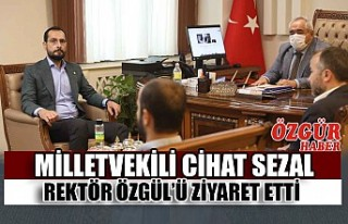 Milletvekili Cihat Sezal Rektör Özgül'ü Ziyaret...