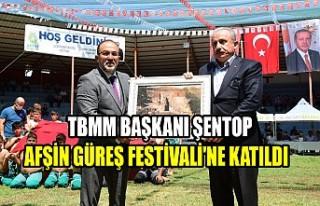TBMM Başkanı Şentop, Afşin Güreş Festivali'ne...