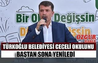 Türkoğlu Belediyesi Ceceli Okulunu Baştan Sona...