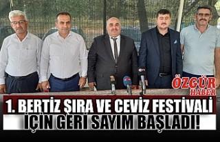 1. Bertiz Şıra ve Ceviz Festivali İçin Geri Sayım...