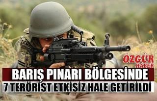Barış Pınarı Bölgesinde 7 Terörist Etkisiz Hale...