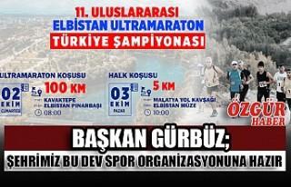 Başkan Gürbüz; Şehrimiz Bu Dev Spor Organizasyonuna...