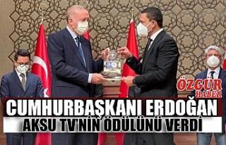Cumhurbaşkanı Erdoğan Aksu TV'nin Ödülünü...