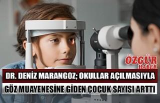 Dr. Deniz Marangoz; Okullar Açılmasıyla Göz Muayenesine...
