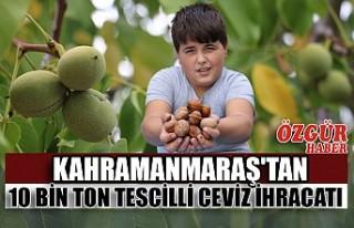 Kahramanmaraş'tan 10 Bin Ton Tescilli Ceviz...