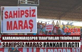 Kahramanmaraşspor Taraftarları Tribünlerde Sahipsiz...